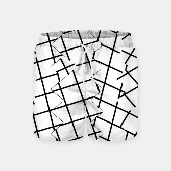 Miniaturka geometric square shape pattern abstract background in black and white Swim Shorts, Live Heroes