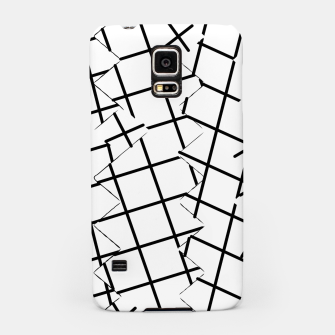Miniaturka geometric square shape pattern abstract background in black and white Samsung Case, Live Heroes