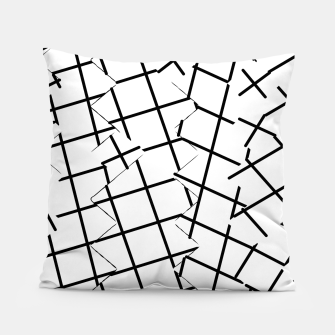 Miniaturka geometric square shape pattern abstract background in black and white Pillow, Live Heroes