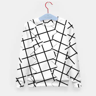 Miniaturka geometric square shape pattern abstract background in black and white Kid's sweater, Live Heroes