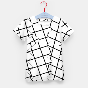 Miniaturka geometric square shape pattern abstract background in black and white Kid's t-shirt, Live Heroes