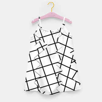 Miniaturka geometric square shape pattern abstract background in black and white Girl's dress, Live Heroes