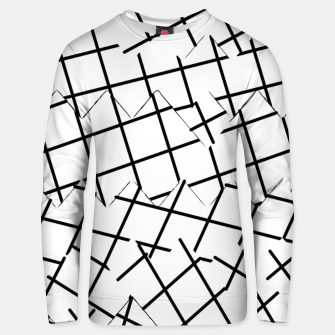 Miniaturka geometric square shape pattern abstract background in black and white Unisex sweater, Live Heroes