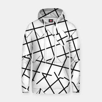 Miniaturka geometric square shape pattern abstract background in black and white Hoodie, Live Heroes