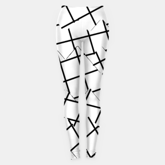 Miniaturka geometric square shape pattern abstract background in black and white Leggings, Live Heroes