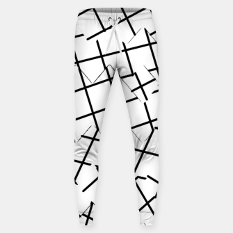 Miniaturka geometric square shape pattern abstract background in black and white Sweatpants, Live Heroes