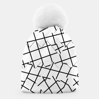 Miniaturka geometric square shape pattern abstract background in black and white Beanie, Live Heroes