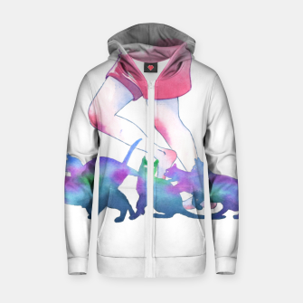 Thumbnail image of summer rain Zip up hoodie, Live Heroes