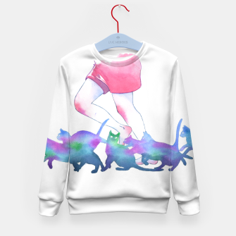 Thumbnail image of summer rain Kid's sweater, Live Heroes