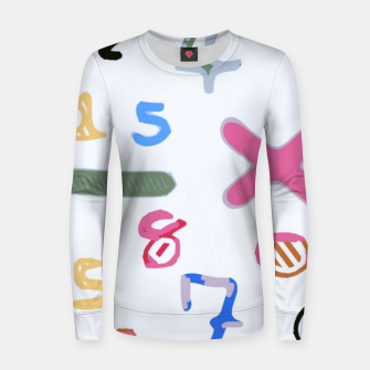 Miniaturka handwriting colorful number Women sweater, Live Heroes