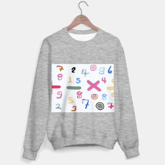 Miniaturka handwriting colorful number Sweater regular, Live Heroes