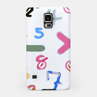 Miniaturka handwriting colorful number Samsung Case, Live Heroes