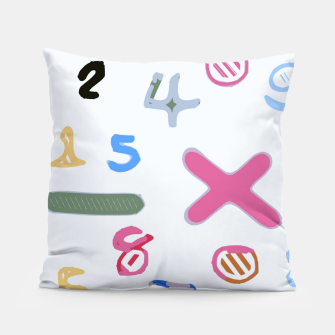 Miniaturka handwriting colorful number Pillow, Live Heroes