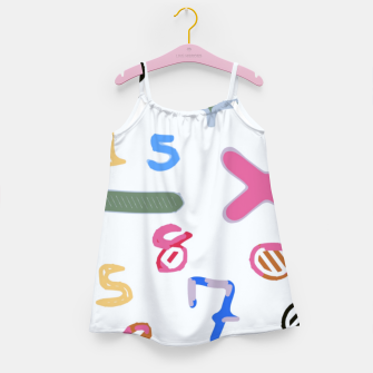 Miniaturka handwriting colorful number Girl's dress, Live Heroes