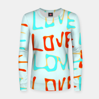 Miniature de image de LOVE alphabet handwriting drawing in red and blue Women sweater, Live Heroes
