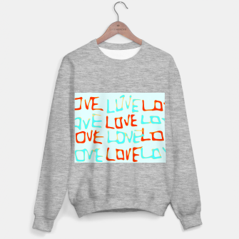 Miniature de image de LOVE alphabet handwriting drawing in red and blue Sweater regular, Live Heroes