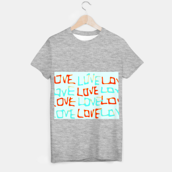 Miniature de image de LOVE alphabet handwriting drawing in red and blue T-shirt regular, Live Heroes