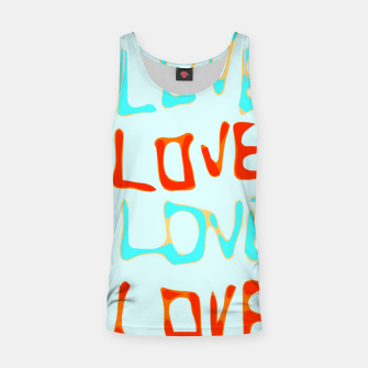 Miniature de image de LOVE alphabet handwriting drawing in red and blue Tank Top, Live Heroes