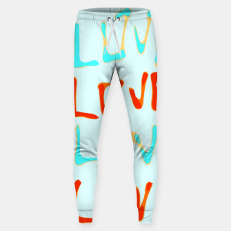 Miniaturka LOVE alphabet handwriting drawing in red and blue Sweatpants, Live Heroes