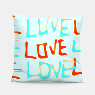 Miniaturka LOVE alphabet handwriting drawing in red and blue Pillow, Live Heroes