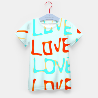 Miniaturka LOVE alphabet handwriting drawing in red and blue Kid's t-shirt, Live Heroes