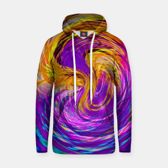 Miniatur psychedelic graffiti abstract pattern in purple pink brown blue Hoodie, Live Heroes