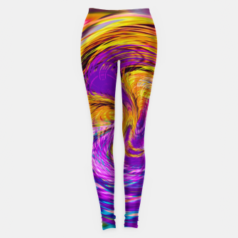 Miniatur psychedelic graffiti abstract pattern in purple pink brown blue Leggings, Live Heroes