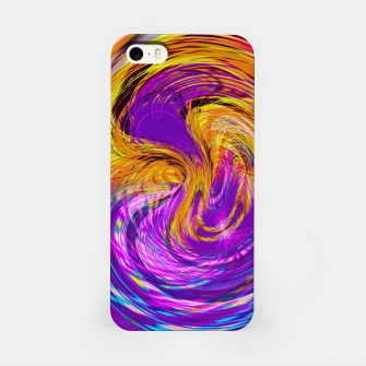 Miniatur psychedelic graffiti abstract pattern in purple pink brown blue iPhone Case, Live Heroes
