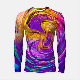 Miniatur psychedelic graffiti abstract pattern in purple pink brown blue Longsleeve rashguard , Live Heroes