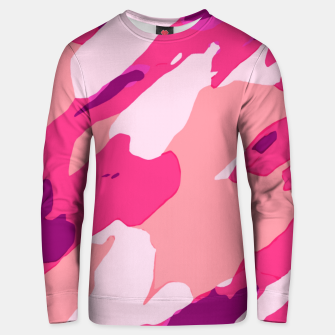 Miniatur camouflage graffiti painting texture abstract in pink and purple Unisex sweater, Live Heroes