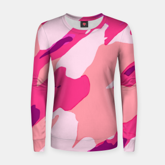 Miniatur camouflage graffiti painting texture abstract in pink and purple Women sweater, Live Heroes