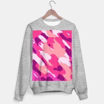 Miniatur camouflage graffiti painting texture abstract in pink and purple Sweater regular, Live Heroes