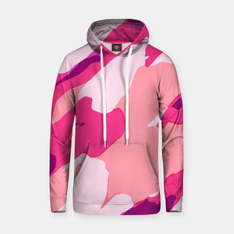 Miniatur camouflage graffiti painting texture abstract in pink and purple Hoodie, Live Heroes