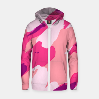 Miniatur camouflage graffiti painting texture abstract in pink and purple Zip up hoodie, Live Heroes