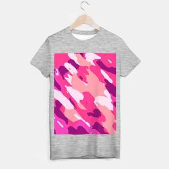 Miniatur camouflage graffiti painting texture abstract in pink and purple T-shirt regular, Live Heroes