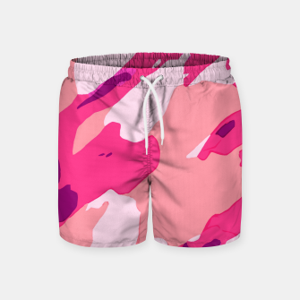 Miniatur camouflage graffiti painting texture abstract in pink and purple Swim Shorts, Live Heroes