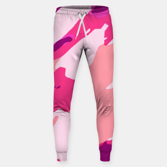 Miniatur camouflage graffiti painting texture abstract in pink and purple Sweatpants, Live Heroes