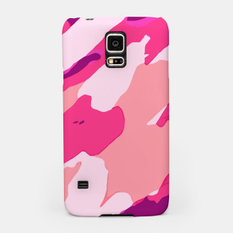 Miniatur camouflage graffiti painting texture abstract in pink and purple Samsung Case, Live Heroes
