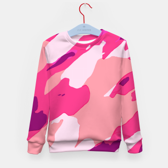 Miniatur camouflage graffiti painting texture abstract in pink and purple Kid's sweater, Live Heroes