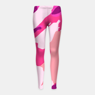 Miniatur camouflage graffiti painting texture abstract in pink and purple Girl's leggings, Live Heroes