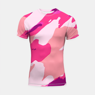 Miniatur camouflage graffiti painting texture abstract in pink and purple Shortsleeve rashguard, Live Heroes