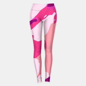 Miniatur camouflage graffiti painting texture abstract in pink and purple Leggings, Live Heroes