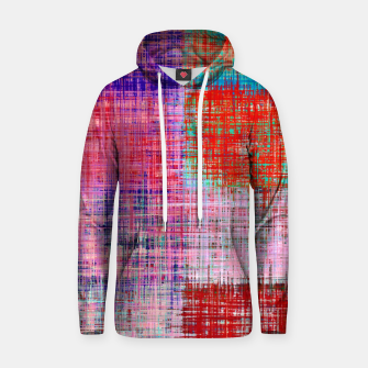 Miniatur square plaid pattern texture abstract in red blue pink purple Hoodie, Live Heroes