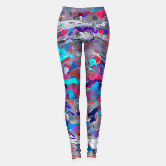 Miniatur psychedelic circle pattern painting abstract background in blue red purple Leggings, Live Heroes