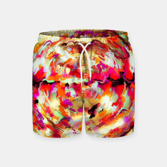 Miniature de image de psychedelic circle pattern painting abstract background in red pink orange Swim Shorts, Live Heroes