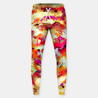 Miniature de image de psychedelic circle pattern painting abstract background in red pink orange Sweatpants, Live Heroes