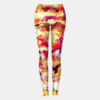 Miniatur psychedelic circle pattern painting abstract background in red pink orange Leggings, Live Heroes