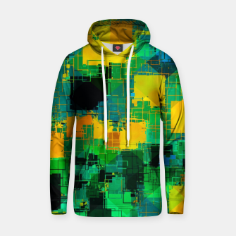Thumbnail image of geometric square pattern abstract in green and yellow Hoodie, Live Heroes