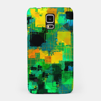 Thumbnail image of geometric square pattern abstract in green and yellow Samsung Case, Live Heroes
