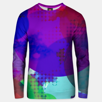 Miniatur geometric circle pattern abstract in blue purple pink Unisex sweater, Live Heroes